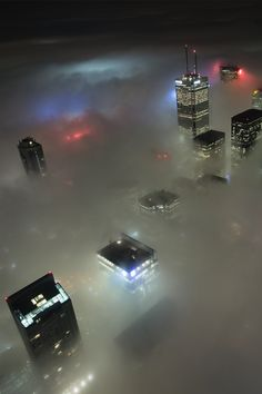 fog over Toronto