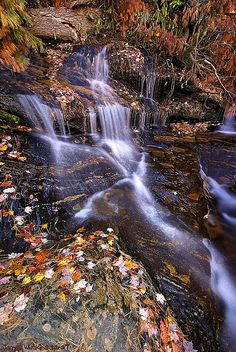 Autumn in North Carolina waterfalls