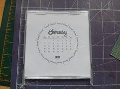 CD calendar diy