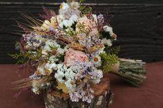 Rustic Lilac, Lavender, Buttercream and Blush Dried Flower Wedding Bouquet, Blush Bouquet, Rustic Peony Bouquet, Bridesmaid Bouquet