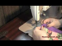 How to use bias tape as binding