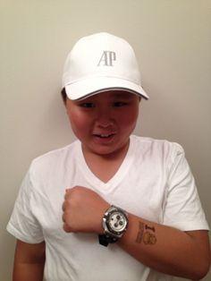 Victor Au-Yeung of Palo Alto, CA, wearing an Audemars Piguet Royal Oak Offshore.