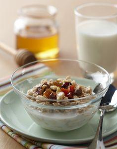 Overnight oatmeal for summer breakfast parfaits.
