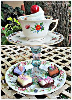 Vintage Floral Teacup / Jewelry Holder / by GardenWhimsiesByMary, $39.00