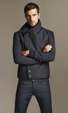 Mens fashion / mens style jean, men styles, peacoat, winter jackets, blazer, masculine style, men fashion, groom, black