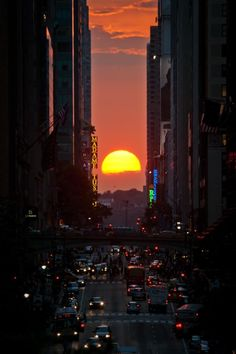 Paolo Palmero sent in this perfect aligned shot of the sun setting between Manhattan's skyscrapers on July 11,2012