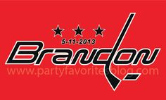 "Hockey Bar Mitzvah Logo by Party Favorites - We specialize in creating fabulous Mitzvah logos to ""brand"" your celebration."