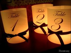 black tie luminaries