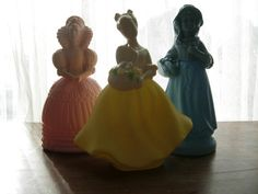 Love, love, love.  Vintage Avon perfume bottle figurines. (Etsy store: CashewPickle)