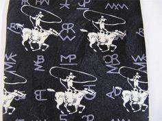 Roper Rockmount Ranch Wear Neck Tie Western Cowboy Riding Horse Limited Edition #RoperRockmount #NeckTie JustLuvTreasures.com