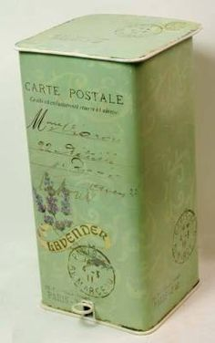 old metal #tin box/ Victorian Trading Company