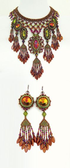 Bollywood Beauty Set by Haute Ice on Etsy :: Hand Beaded, Unique & Awesome ♥