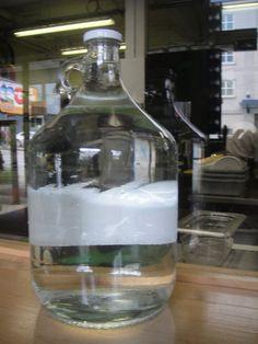 Alkaline Water in Glass Jug