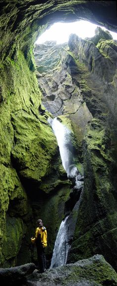 The Stakkholtsgjá Gorge in Thorsmork is like taken out of an epic scene from Lord of the Rings.