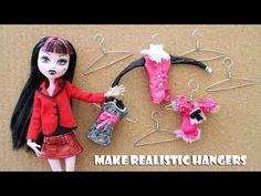 How to make a hanger making device and clothes hangers for dolls