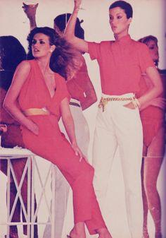 Gia Carangi and Janice Dickinson, Vogue,  May 1979