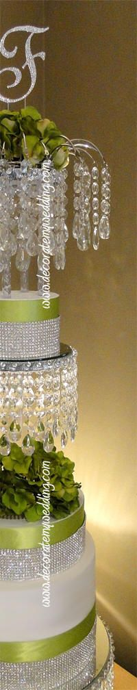 PK diamond theme DECORATE MY WEDDING Rhinestone Cake Banding