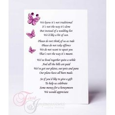 How Much Money For Wedding Gift For Brother : Wedding invitations on Pinterest Wedding invitations, Wedding Poems ...