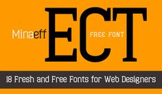 18 Fresh and Free Fonts for Web Designers