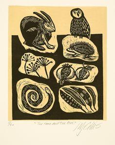 Hare and Owl by Mariann Johansen Ellis