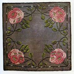 Ann Macbeth embroidered cushion cover 1906