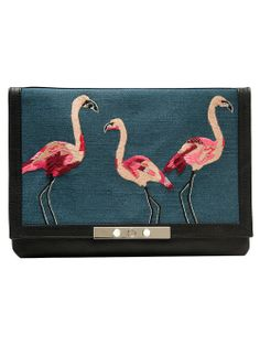 We're flamingo obsessed! How cute is this clutch?!