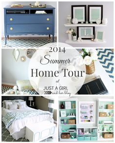 A beautiful summer home tour at JustAGirlAndHerBlog.com