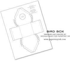 birdhouses, gift, printable templates, paper, boxes, bird box template, cake pop, box templates, bird hous