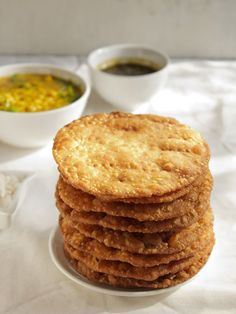 sindhi pakwan - popular sindhi breakfast snack of crisp fried bread. step by step recipe.  #pakwan #sindhi #indianbread #snacks #indianrecipes