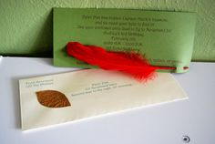 Cute Idea for Invites to Peter Pan Party