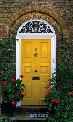 Front Door | Paint Color | Home Design | Yellow