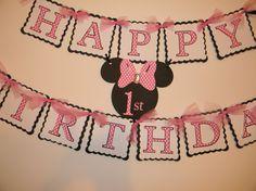 Minnie Mouse Birthday Banner.