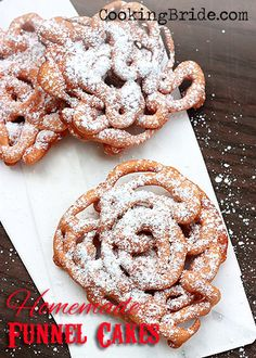 Homemade funnel cakes - CookingBride.com #FairFood