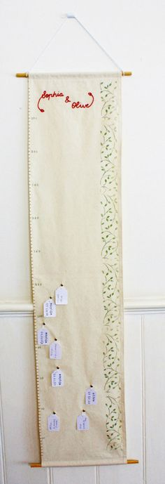 fabric growth, tutorials, gift, tag, growth charts