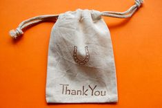 Horseshoe Muslin Bags / Set of 10 / Perfect Party Favor Bag