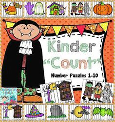 """Freebielicious: Kinder """"Count"""" Number Puzzles {Freebie}"""