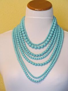 Turquoise long beads
