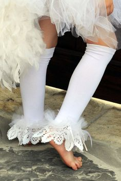 Little Bunny Couture  Angelic White Lace  by littlebunnytutus, $19.99