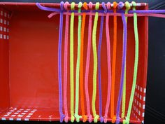 Weaving with Pipe Cleaners - Re-pinned by @PediaStaff – Please Visit http://ht.ly/63sNt for all our pediatric therapy pins