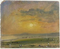 Coast Scene at Brighton: Evening, John Constable, 1828