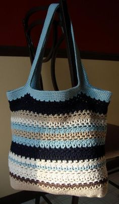 Crocheting Ideas | Project on Craftsy: Lacy V Tote