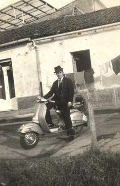 Italian Vintage Photographs ~ #Italy #Italian #vintage #photographs ~ Suited Vespa rider