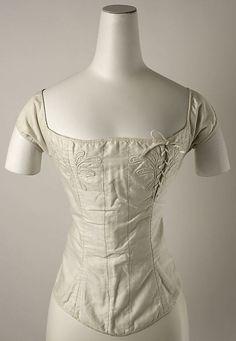 Corset  Date: 1820   Culture: American Medium: cotton