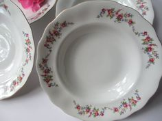 Vintage Favolina Spring Garden Floral Soup Bowls by thechinagirl, $24.50