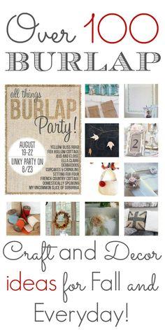 It's a Burlap Bonanza | Loads of #diy #burlap ideas from craft to home decor!!