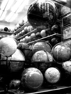 Globes in Black & White