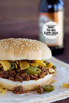 Smoky Tex-Mex Sloppy Joses | www.tasteandtellblog.com