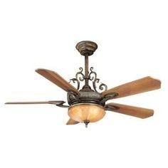 Hampton Bay Chateau Deville 52 in. Deville Walnut Ceiling Fan $199.00