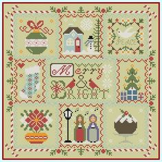 Stitcheree!: Merry & Bright - Completed Free Pattern