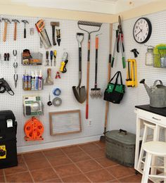 Michelle organized her garage with patience and pegboards!